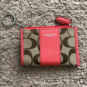 Coach signature coin purse coral